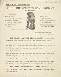 Advert for the Home Counties Coal Company